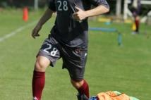 Séance d'entraînement  : Jeremy Pied prend contact avec le ballon
