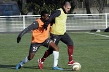 Séance d'entraînement reprise  : Vincent Bessat face à Yeni N\'Gbakoto