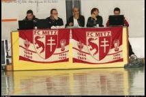 FC Metz Walygator Tour 2010 Etape de Lexy  : Sebatien MUET, Joël MANGIN, Youns DIANI, l\'animatrice du Républicain Lorrain, Michael CESCA