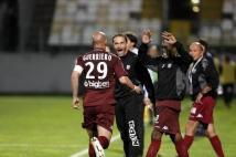 Metz - Nîmes, 37ème journée de Ligue 2  : Ludovic Guerriero, Christophe Marichez, Yeni Ngbakoto