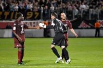Metz - Nîmes, 37ème journée de Ligue 2  : Ludovic Guerriero, Christophe Marichez, Adama Tamboura