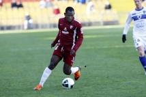 Metz - Bastia, 19e journée de Ligue 2  : Oumar Pouye en action