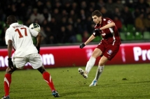 Metz - Sedan, 21e journée de Ligue 2  : Yohan Betsch a une nouvelle fois été positionné dans l\'entrejeu.