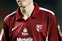 Metz - Troyes  : Yohan Betsch, dépité à l\'issue de la rencontre.