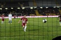 Metz - Troyes  : Mathieu Duhamel n\'a pas tremblé au moment de transformer le penalty de l\'égalisation (2-2).