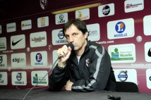 Metz-Boulogne  : Dominique Bijotat à l\'occasion de la conférence de presse après le match.