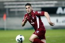Amiens SC - FC Metz, 31° journée de Ligue 2   : Andy Delort s\'est battu jusqu\'au coup de sifflet final.