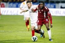 Metz-Guingamp, 36° journée de Ligue 2  : Adama Tamboura, à l\'oeuvre sur son côté gauche.