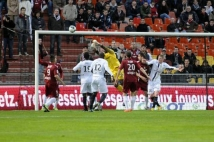 Metz-Angers, 34° journée de Ligue 2  : Parade d\'Oumar Sissoko