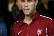 Metz-Tours, 38° journée de Ligue 2  : Pierre Bouby dans le tunnel avant le coup d\'envoi de la rencontre