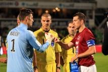 Metz - Angers, 12° journée  : Romain Rocchi et Grégory Malicki réalisent le toss d\'avant-match