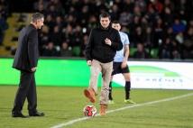 Metz - Caen, 23° journée  : Grégory Proment donne le coup d\'envoi du match