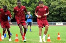 Reprise de l'entraînement   : Johan Carrasso et Ali Bamba