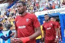 Sochaux - Metz, match amical  : Diafra Sakho et Cheick Doukouré pénètrent sur la pelouse